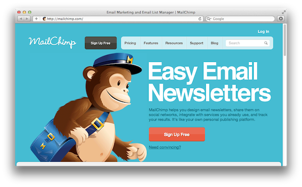 MailChimp Newsletters from your Website made Easy