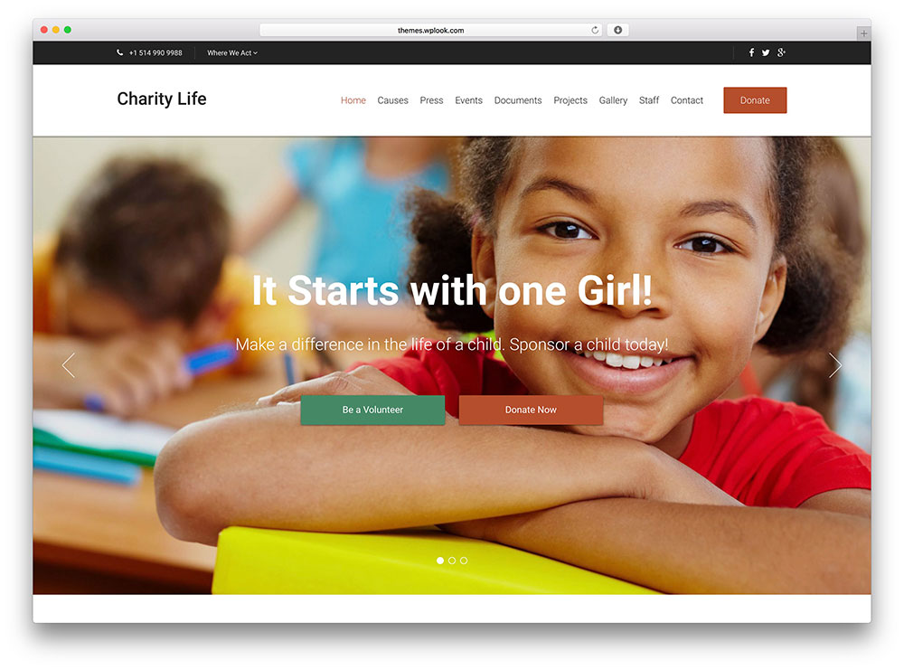 charitylife wordpress theme