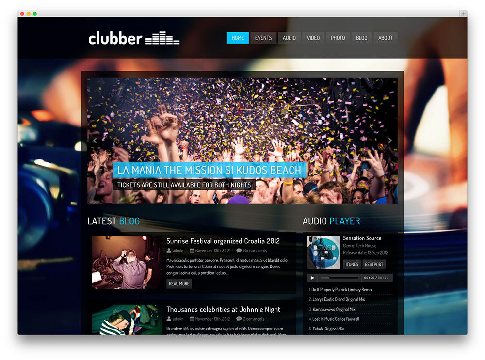 clubber-wordpress-template