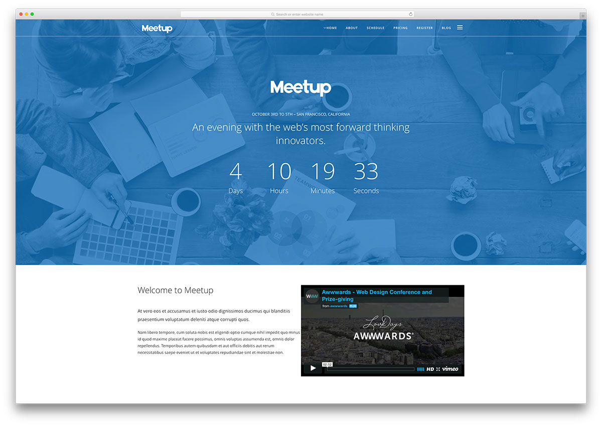 meetup-countdown-timer-event-theme