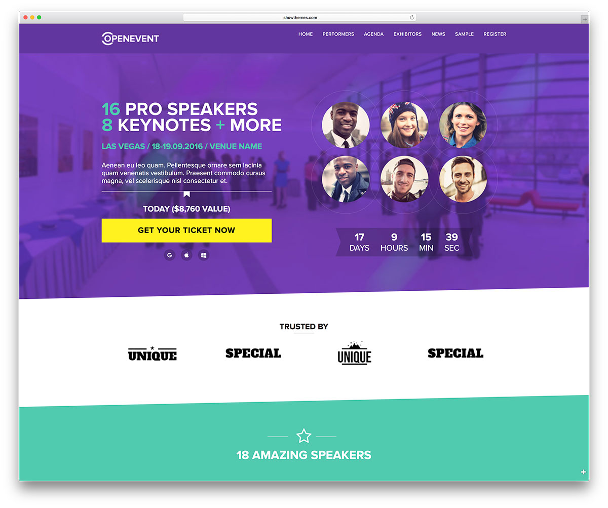 openevent-simple-wordpress-event-theme