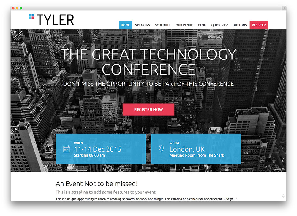 tyler-event-manager-theme