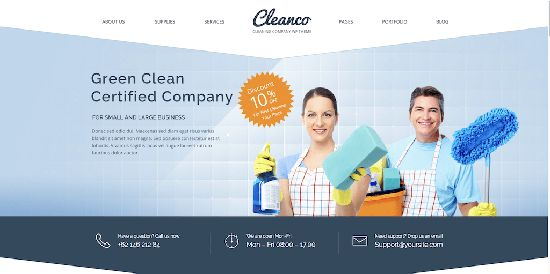 Cleanco WordPress Theme