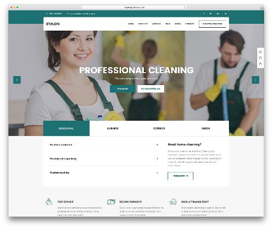 etalon-cleaning-company-wp-website-template