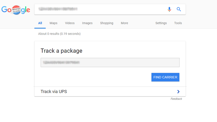 Track Packages with Google