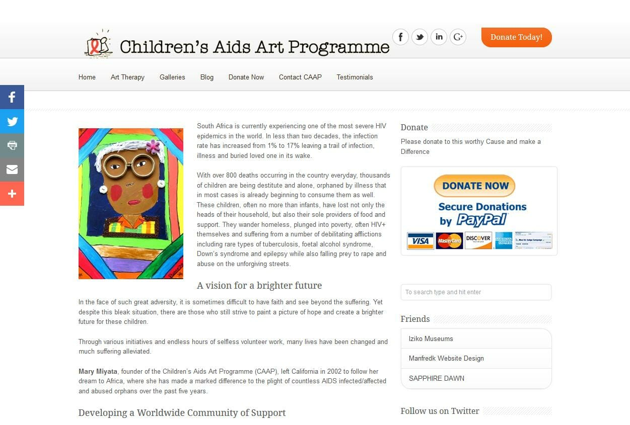Childrens Aids Art Programme