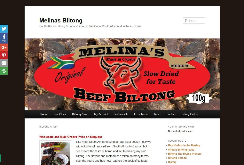 Melinas Biltong in Cyprus