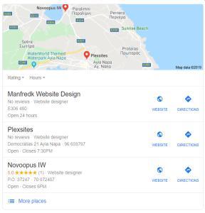 Local SEO Manfredk Website Design Protaras