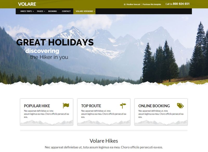 Volare | Trekking, Sailing, Diving WordPress Theme