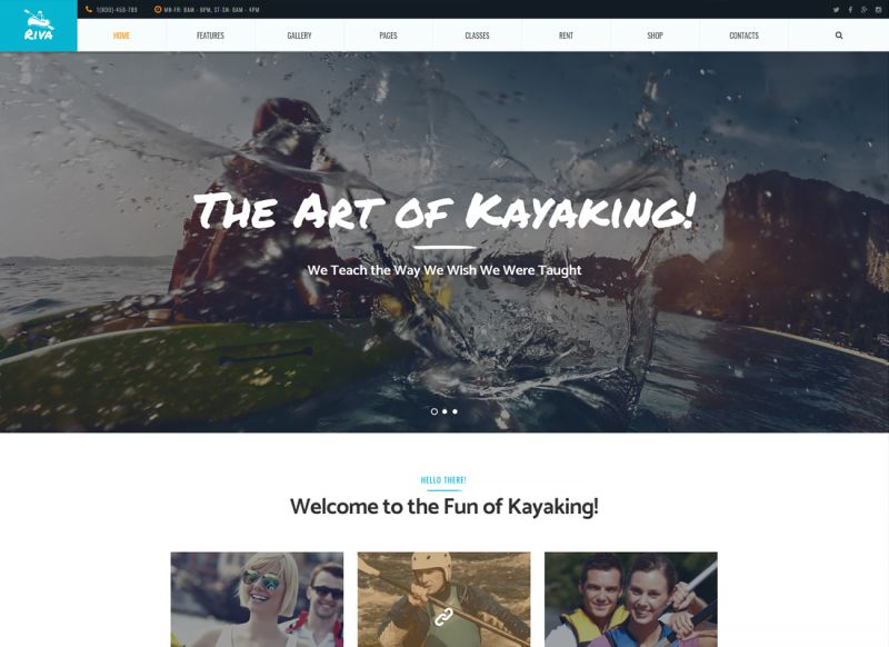 Riva | Kayaking / Paddling / Sports & Outdoors WordPress Theme