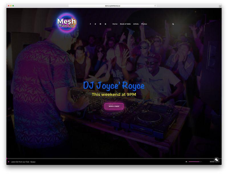 mesh-fullscreen-club-website-template