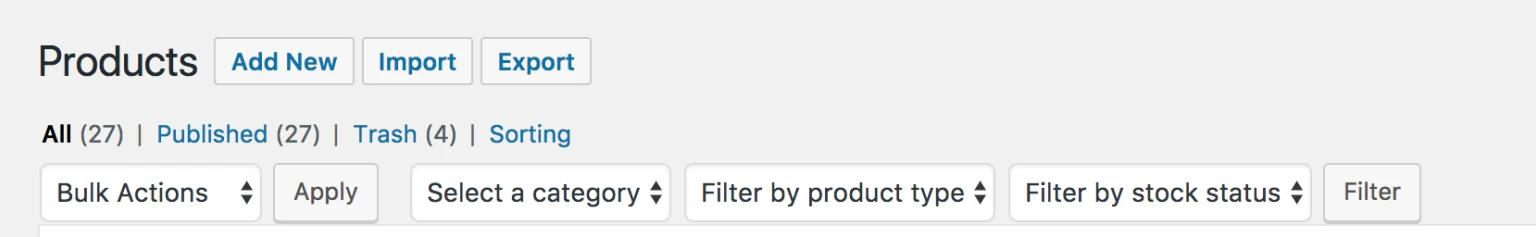 Filter WooCommerce Products