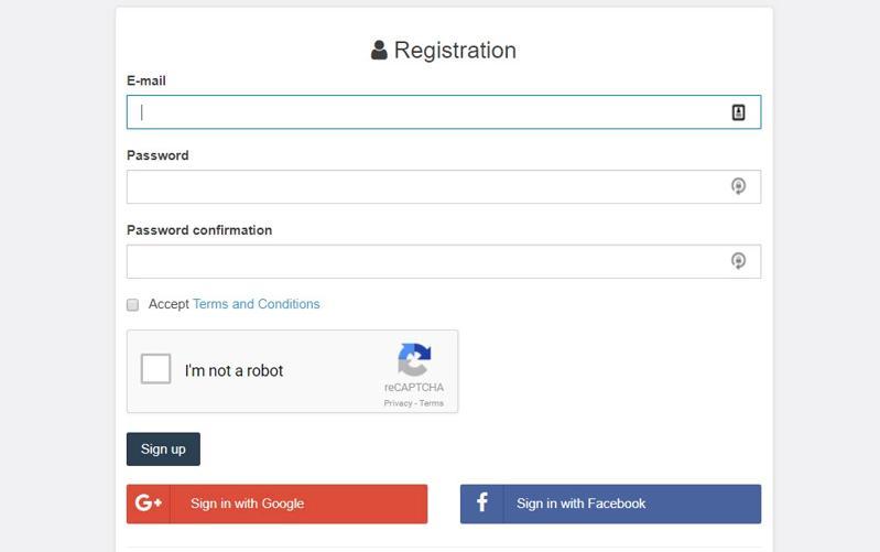 Coingate Registration Form