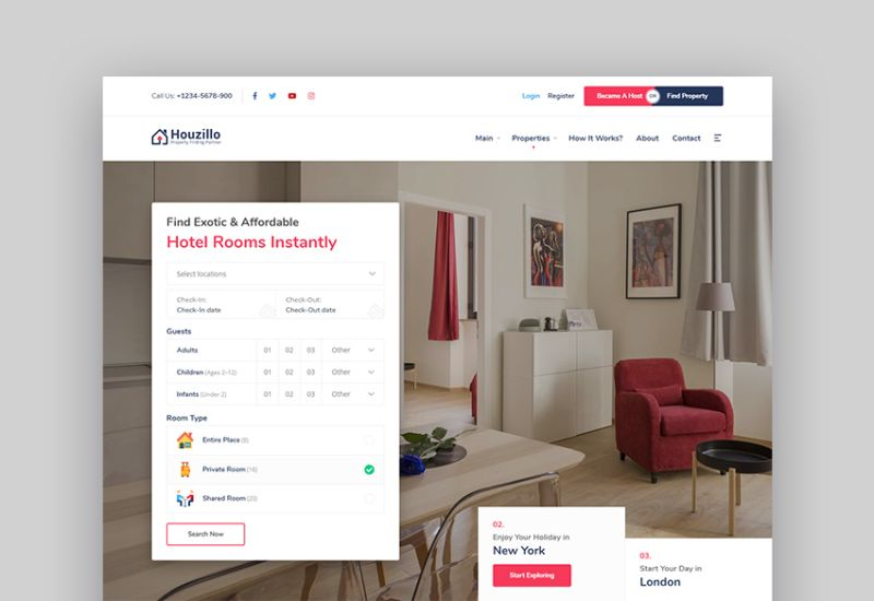 wordress booking reservation themes