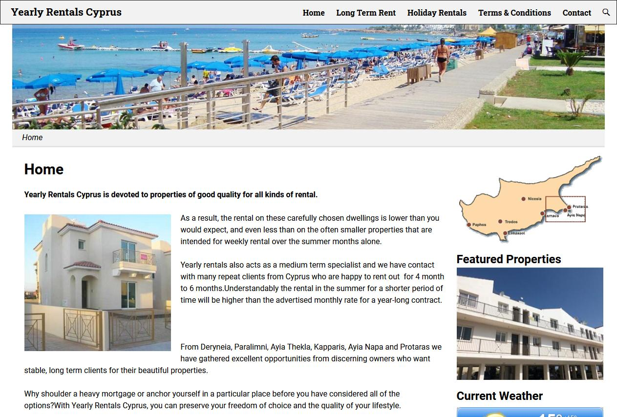 Yearly Rentals Cyprus