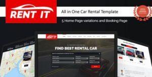 Rentit - Multipurpose Vehicle Car Rental WordPress Theme