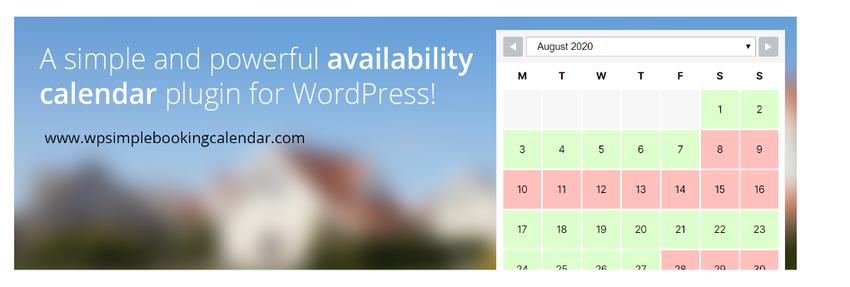 WordPress Simple Booking Calendar Free